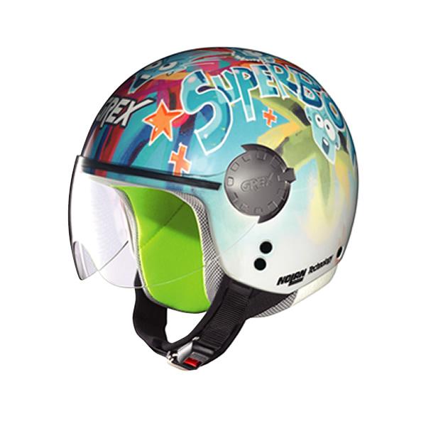 Grex G1.1 Visor Fancy  kid demi-jet helmet white 10