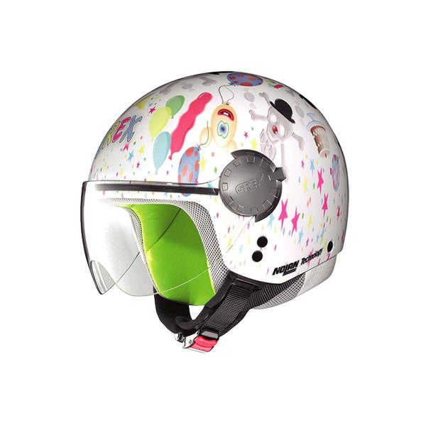 Grex G1.1 Visor Fancy  kid demi-jet helmet white 02