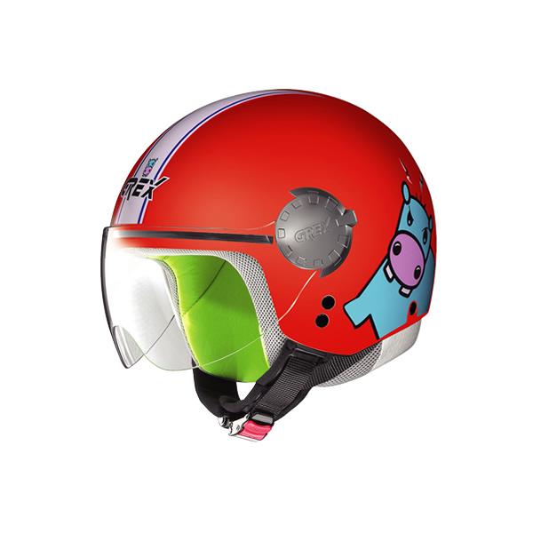 Casco moto bambino Grex G1.1 Visor Teens rosso