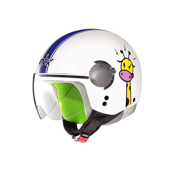 Casco moto bambino Grex G1.1 Visor Teens bianco-blu