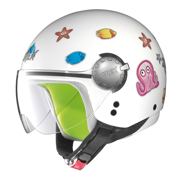 Demi-jet helmet child Grex G1.1 Teeny white sea