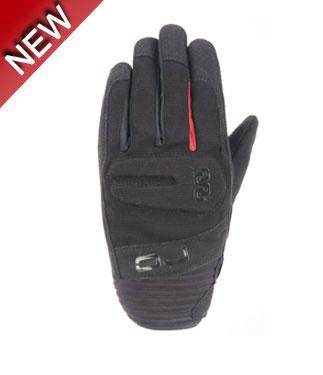 OJ Fire summer gloves black red