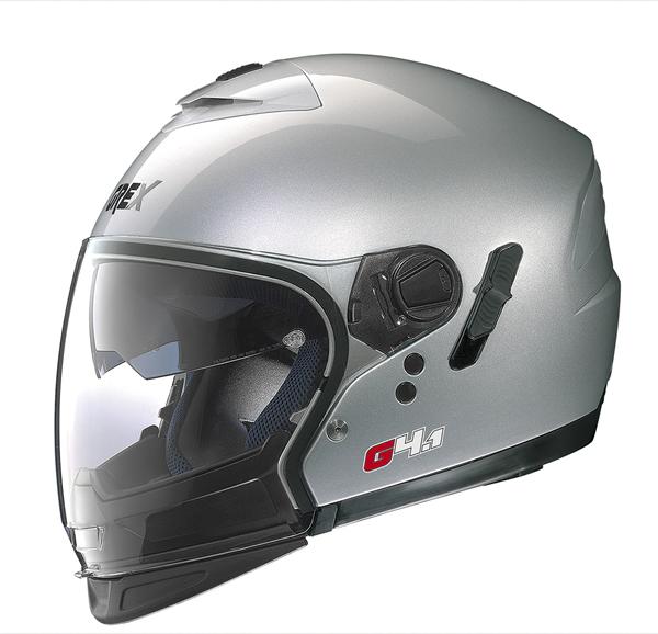 Grex G4.1 Pro Kinetic flip off helmet Silver
