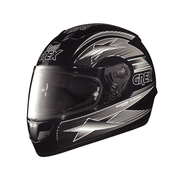 Casco moto Grex G6.1 Decor nero-grigio