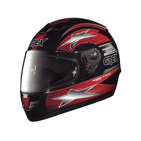 Casco moto Grex G6.1 Decor nero-rosso