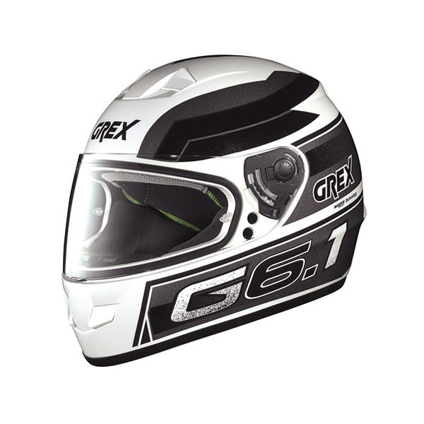 Grex G6.1 Podium full-face helmet metal white