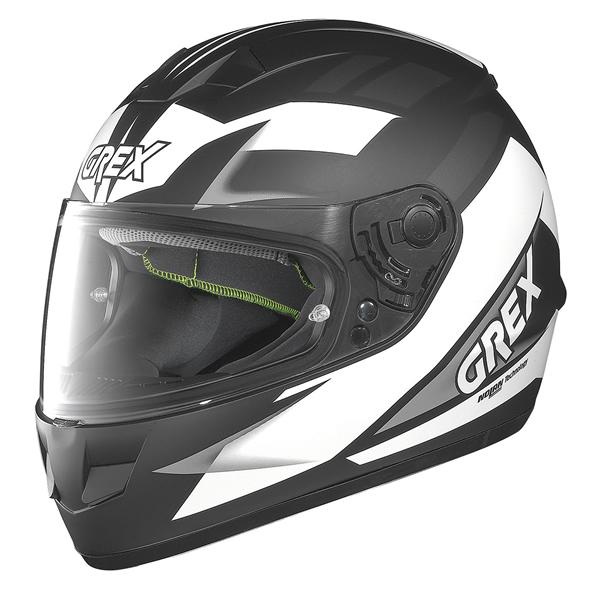 Grex G6.1 Wry full face helmet Matte Black White