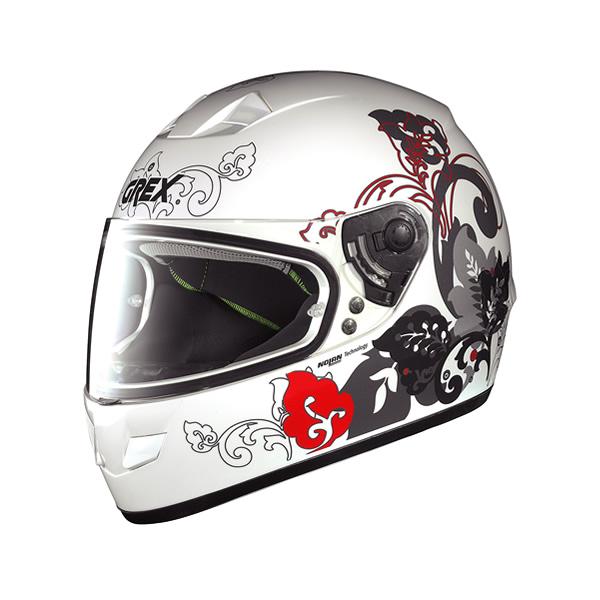 Grex G6.1 Mild full-face helmet metal white