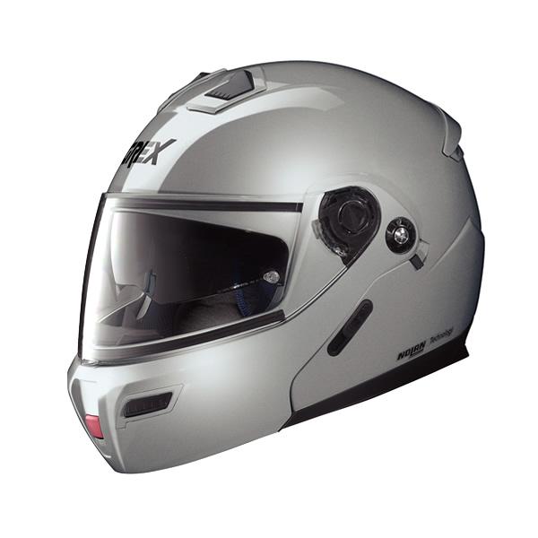 Grex G9.1 Kinetic full-face flip-up helmet metal silver