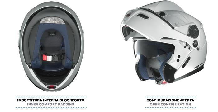 Helmet flip-up Grex G9.1 Loom flat black