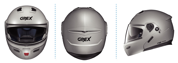 Helmet flip-up Grex G9.1 Loom flat metal white