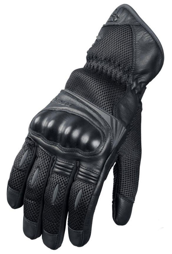 Approved summer motorcycle gloves Bering TX08 Black
