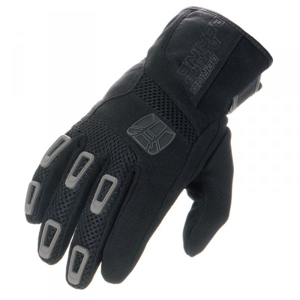 Approved summer motorcycle gloves Bering Janus Black