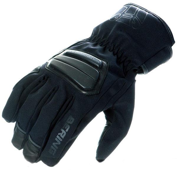 Approved Bering waterproof motorcycle gloves summer EX12 Black