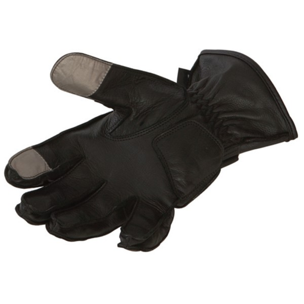 Leather motorcycle gloves summer Bering Approved Perry Black