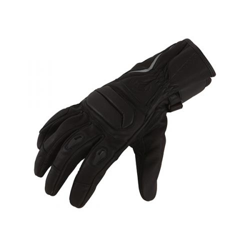 Leather motorcycle gloves approved Bering Black Remake
