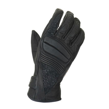 Woman leather motorcycle gloves approved Bering Jane Black
