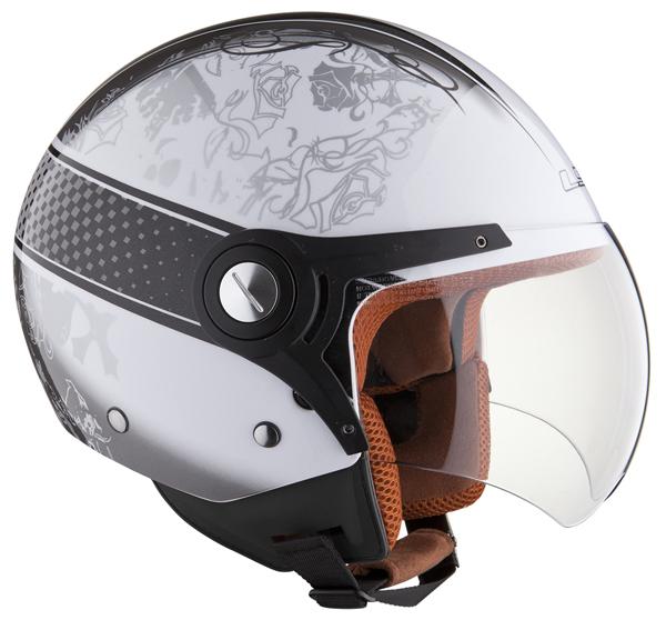 Helmet LS2 OF518 Garden white black