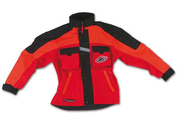 Ufo Baby Boy cross jacket with detachable sleeves Red