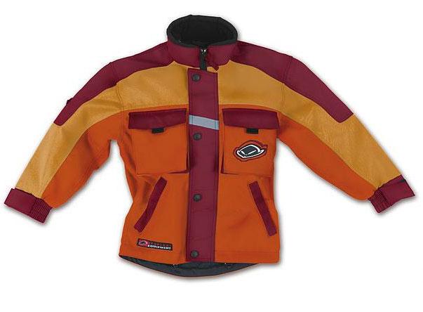 Ufo Baby Boy cross jacket with detachable sleeves Orange