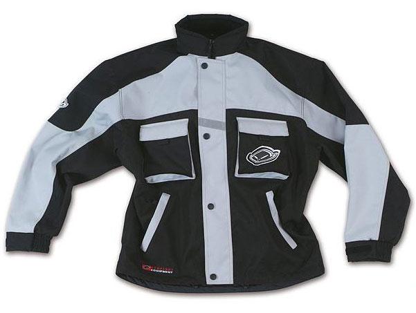 Ufo Baby Boy cross jacket with detachable sleeves Black