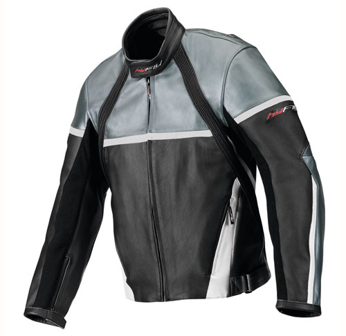 Hy Fly Game leather jacket Black Grey Chrome