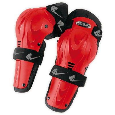 Coppia ginocchiere snodabili cross UFO Professional Rosso
