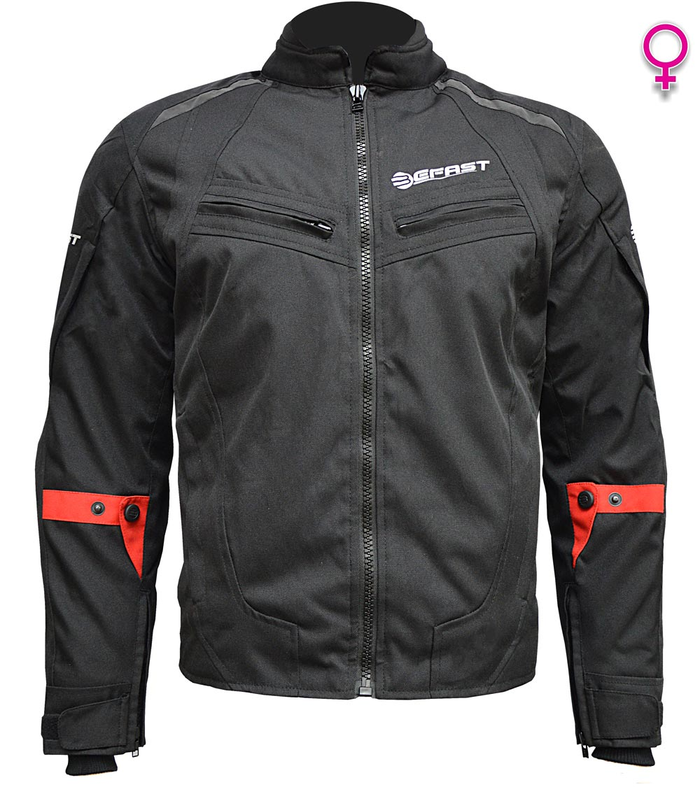 Giacca moto donna touring Befast Delta Nero