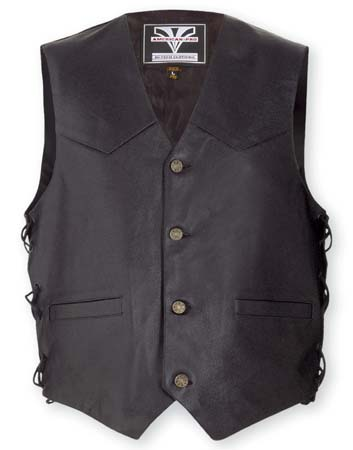 A-PRO Tail Leather Vest