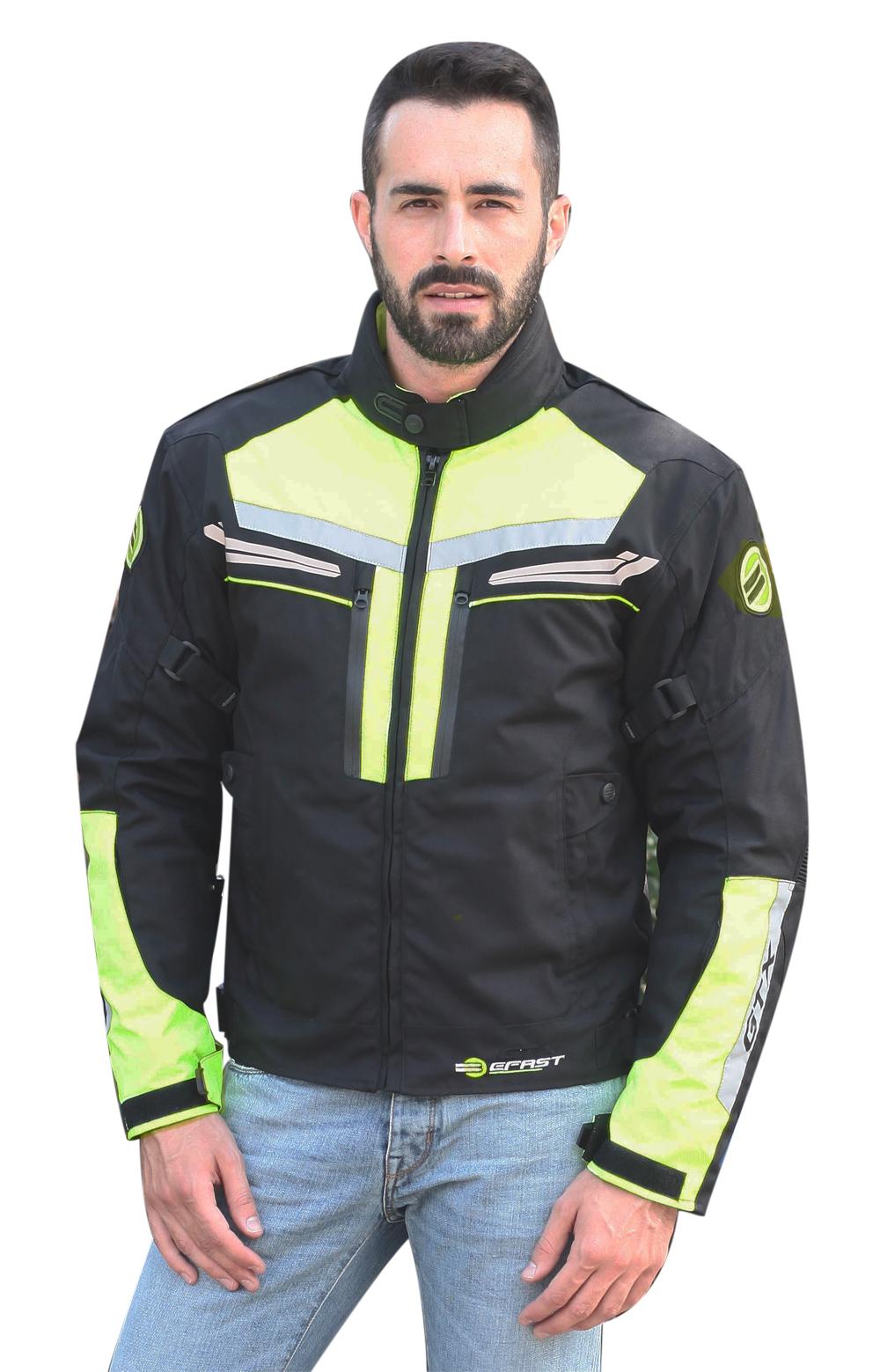 Giubbotto moto Befast GTX Evo Touring Nero Giallo fluo