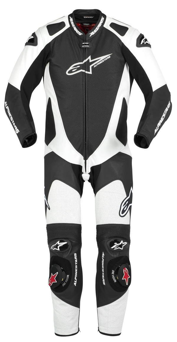 Tuta moto intera Alpinestars  GP Pro nero-bianca