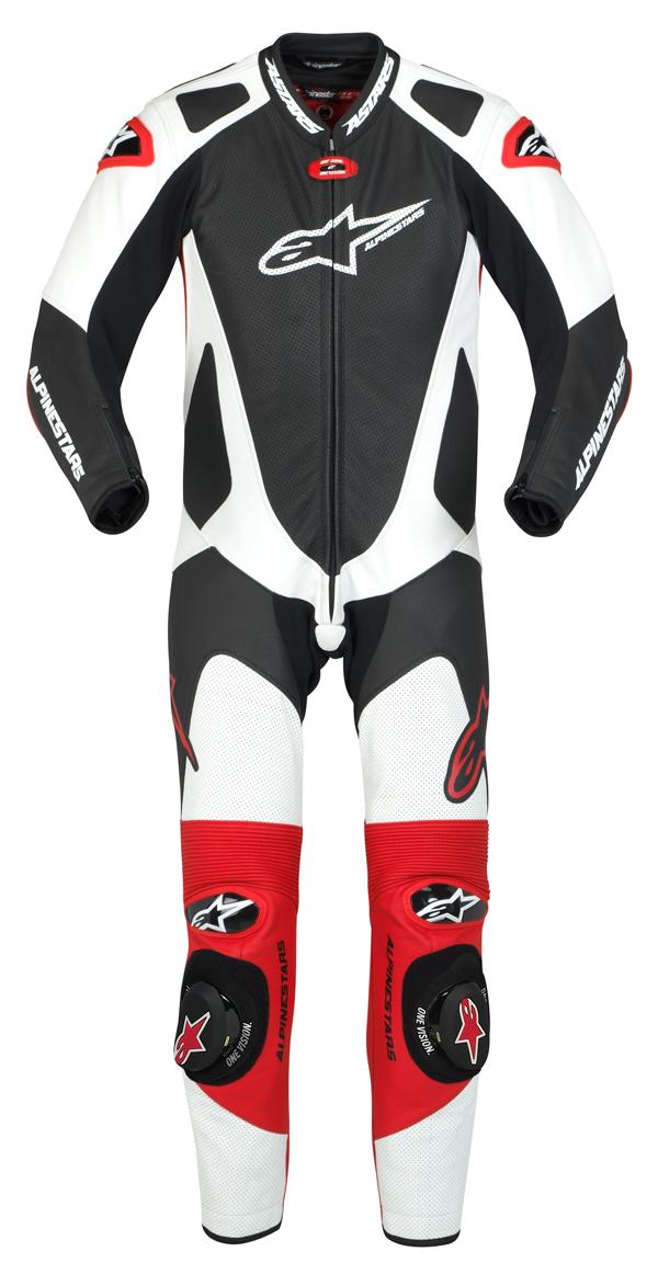 Alpinestars GP Pro leather suit black-white-red