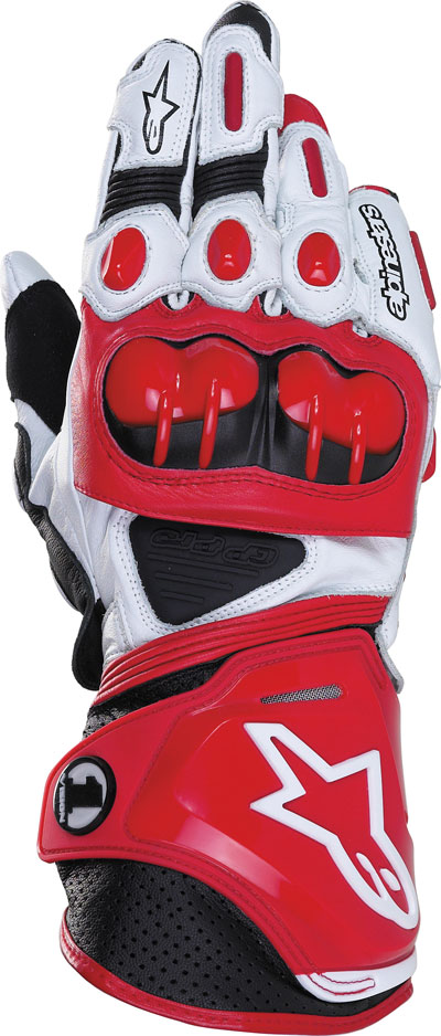 ALPINESTARS GP-PRO leather gloves col. red