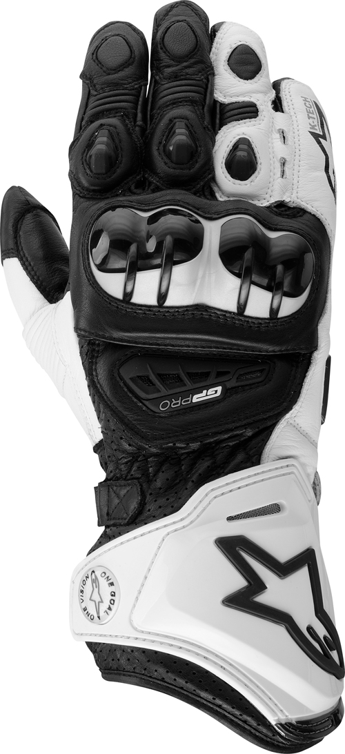 Alpinestars GP Pro leather gloves white-black