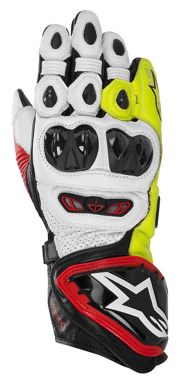 Alpinestars GP TECH leather gloves black-red-yellow