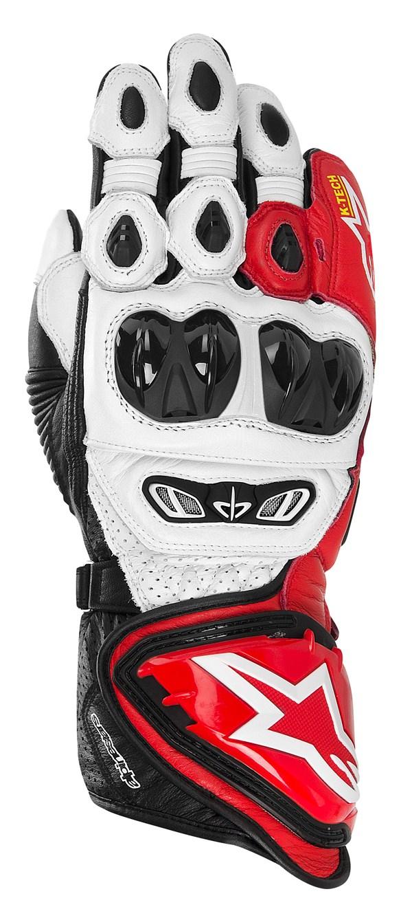 Alpinestars GP TECH leather gloves white-red-black