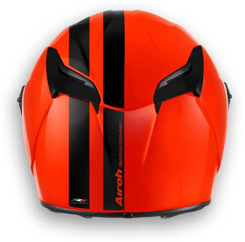 Casco moto Airoh GP 400 Circuit arancio lucido