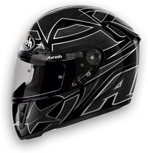 Casco moto Airoh GP 400 Shot nero lucido