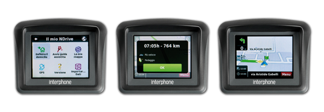 Navigatore satellitare moto Interphone Europa Full Cellular Line