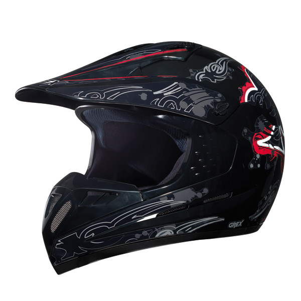 Grex C1 Decorcross helmet Black Red