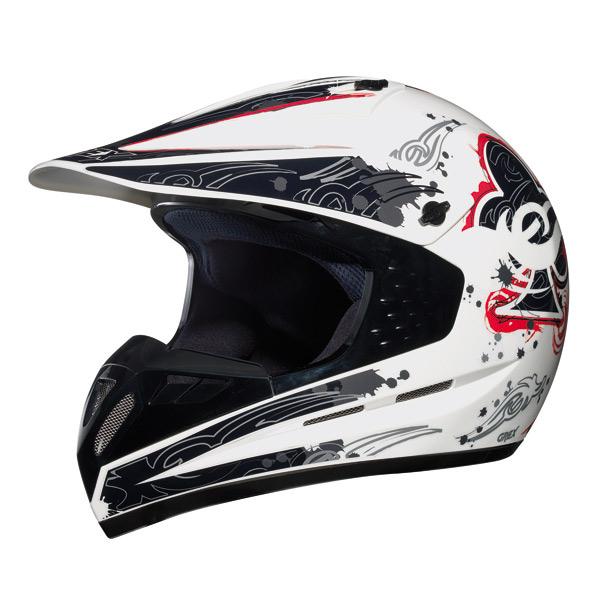 Grex C1 Decor cross helmet White Red