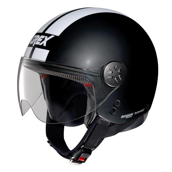 Casco moto jet Grex DJ1 City Stripes Nero Opaco