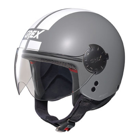 Casco moto jet Grex DJ1 City Stripes Grigio Opaco
