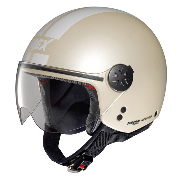 Grex DJ1 City Stripes jet helmet Flat Ivory
