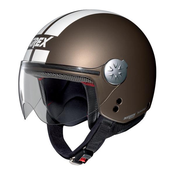 Grex DJ1 City Stripes jet helmet Flat Moka