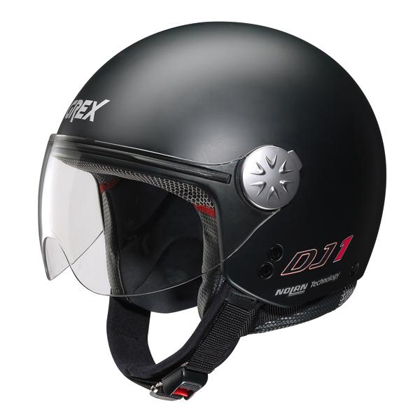 Casco moto jet Grex DJ1 City Kinetic Nero Opaco