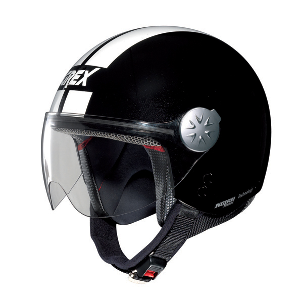 Grex DJ1 City Stripes jet helmet Metal Black