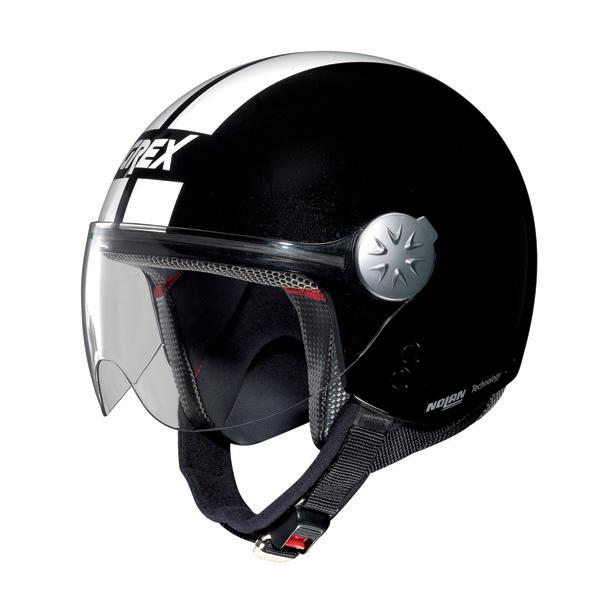 Casco moto jet Grex DJ1 City Stripes Metal nero