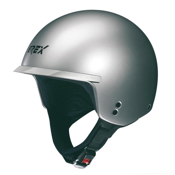 Casco moto jet Grex DJ1 Peak Club silver metal