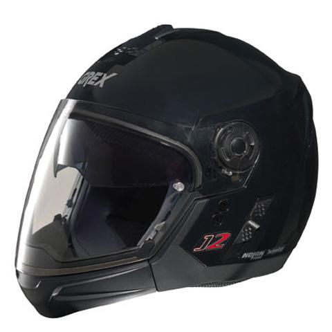 Casco moto Grex J2 PRO Kinetic nero metal ment. staccabile